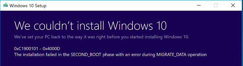 When running Setup.exe from ISO