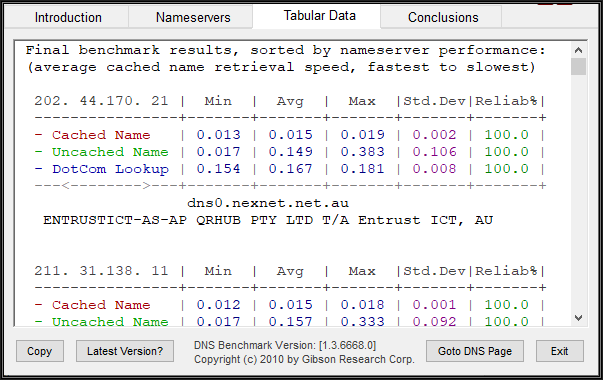Image showing the contents of the tools Tabular Data tab
