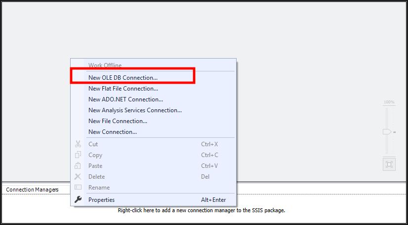 OLE DB connection error while connecting Oracle database