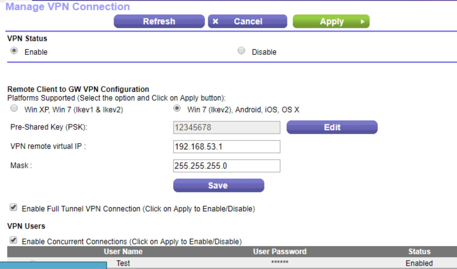 SOLUTION] Setup vpn in v7610 Telstra router