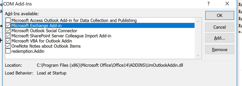 Outlook randomly displays popup: Contacting: \\collect tealiumiq com