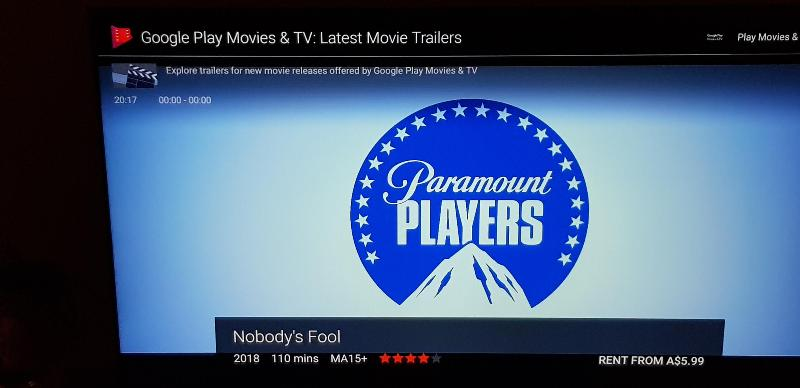 Google Play Movies and TV screen