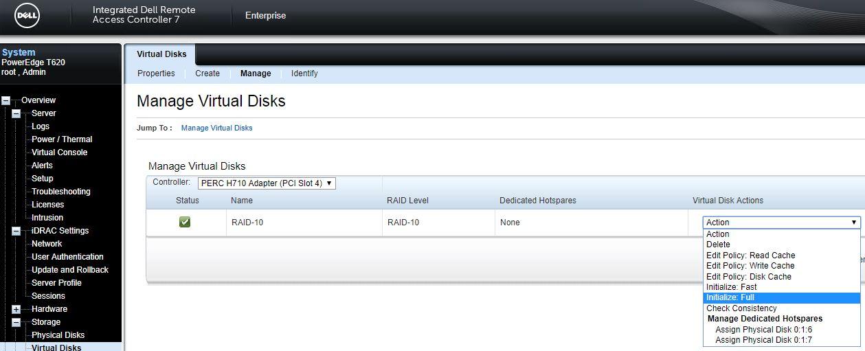 Disk array expansion on Dell PowerEdge T620 under VMware ESXi v5 5