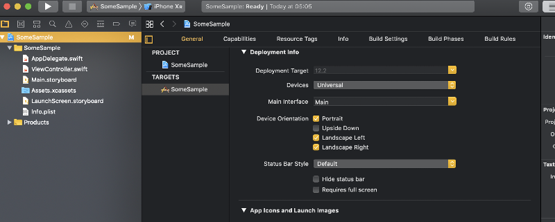 Main Interface - Project Target  Settings