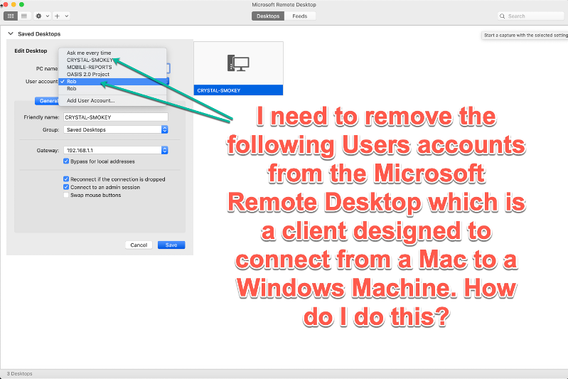 Microsofts Remote Desktop Client for the Mac