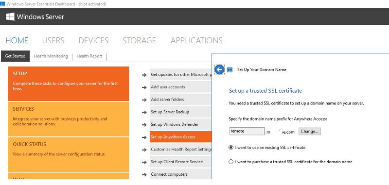 SSL certificate setup