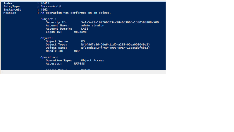 Result in PowerShell