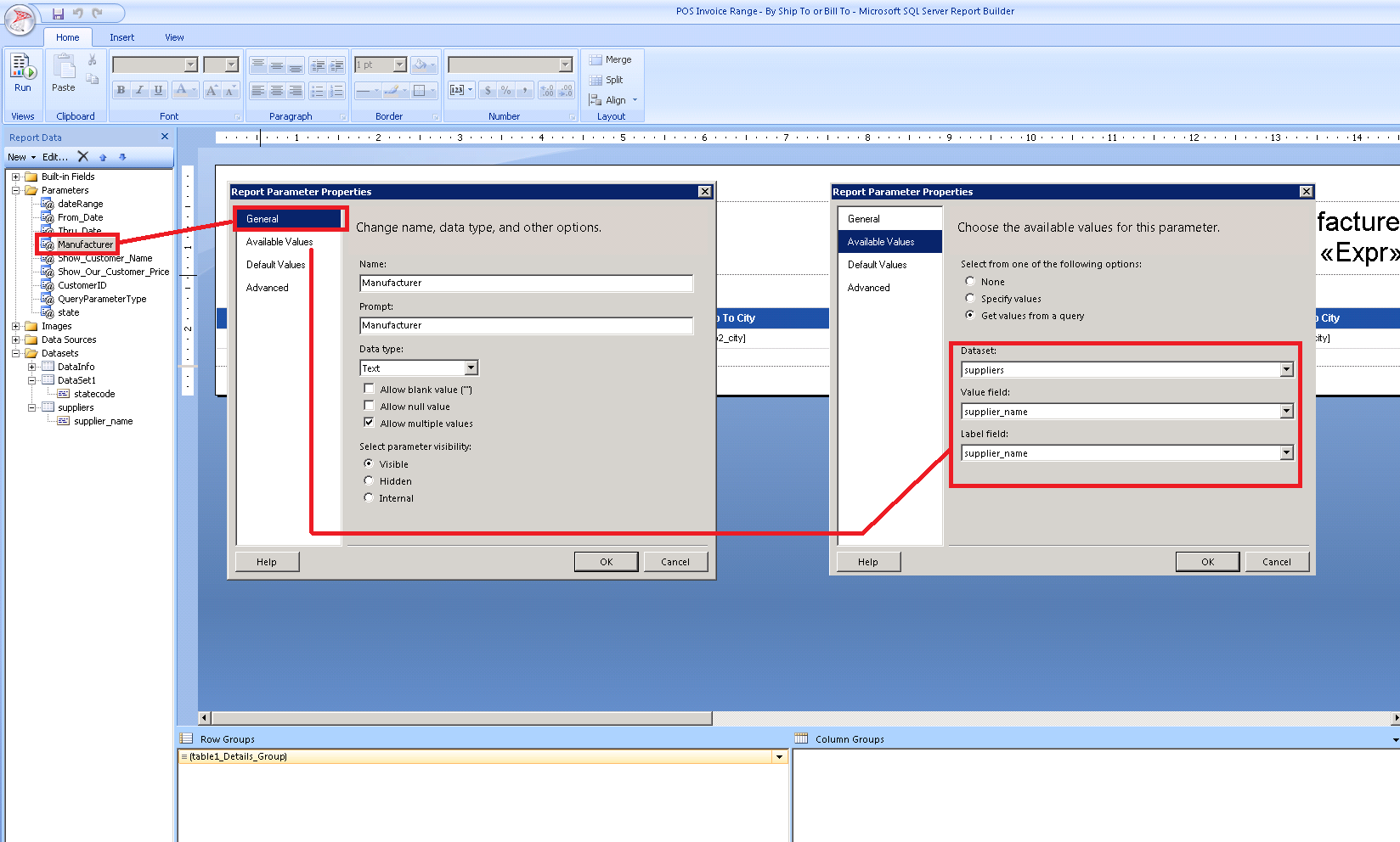 SSRS - Hidden expression contains an error: Overload resolution failed