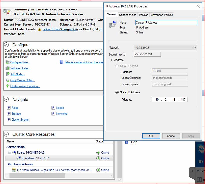Windows 2016 Server Event Error 205 Repeating