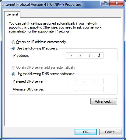 Network Adapter IP address