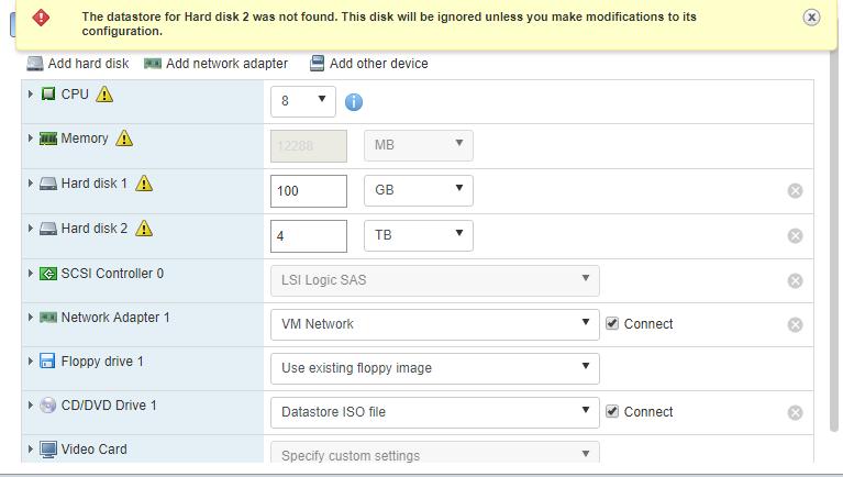Vmware 6.0 drive properties