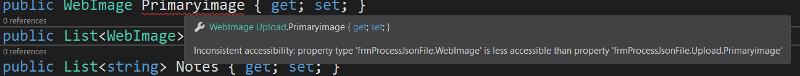 Inconsistent accessibility error