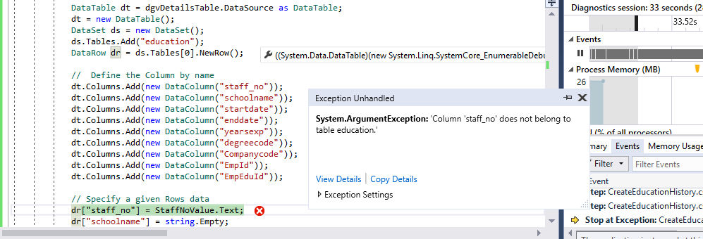 What is the correct syntax for adding a datarow to a dataset
