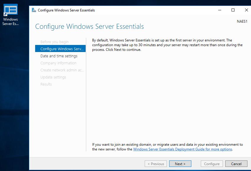 Configuring Windows Server 2016 Essentials