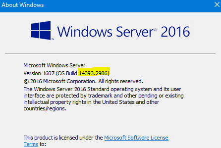 MS Server 2016 stuck at