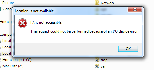 Device I/O Error