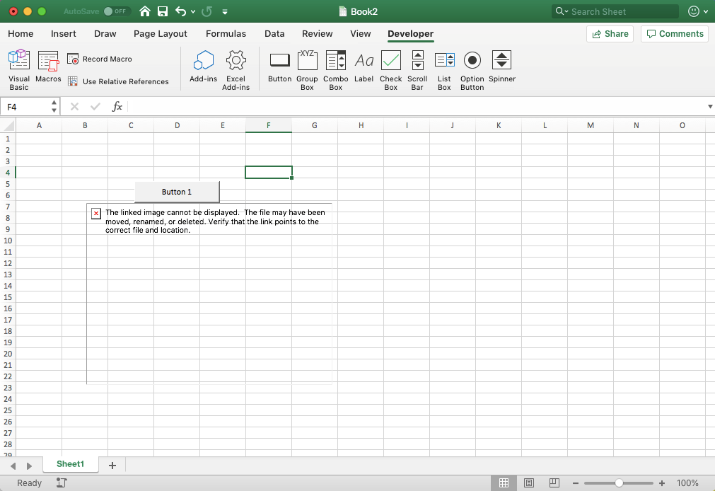 How to add a picture using EXcel VBA on Mac?