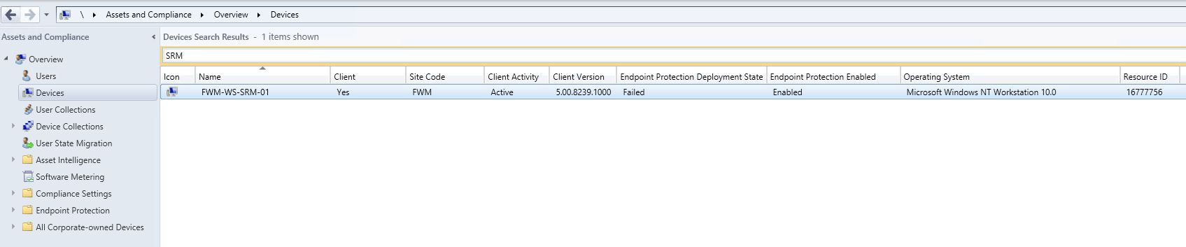 SCCM2012 System Center Endpoint Protection installation does