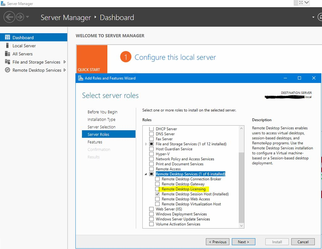 Terminal Server 2019 setup - End users will use RDP to Access it