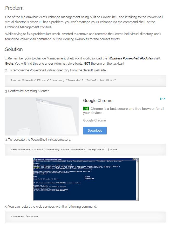 SOLUTION] Cannot re-create PowerShellVirtualDirectory Exchange 2010