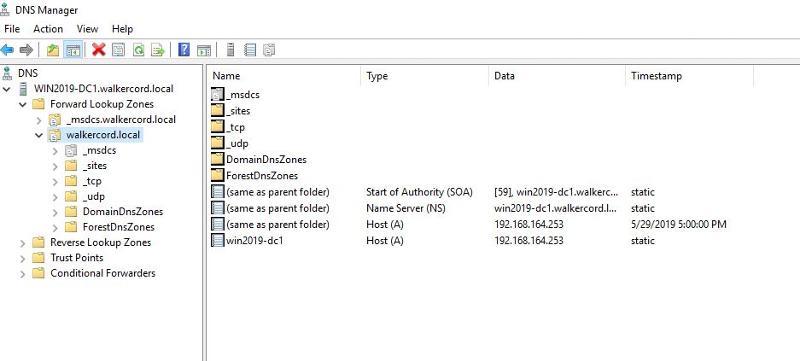 DNS on server