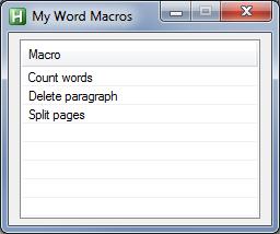 Word macros