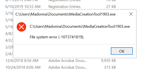 Media Creation Tool Error