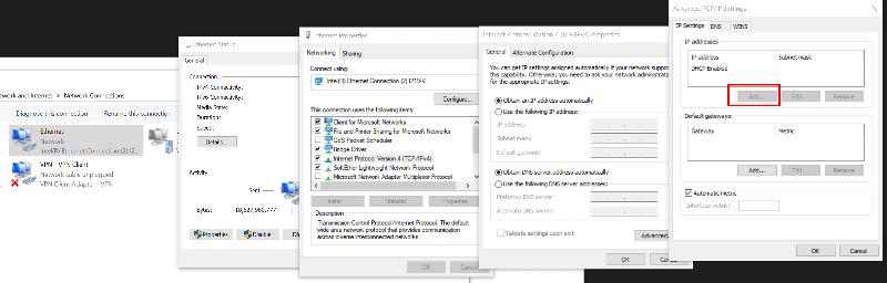 Add additional ip to NIC