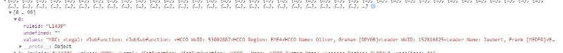 JSON result from SPServices call - formatting lost when I add one of the object results to a div