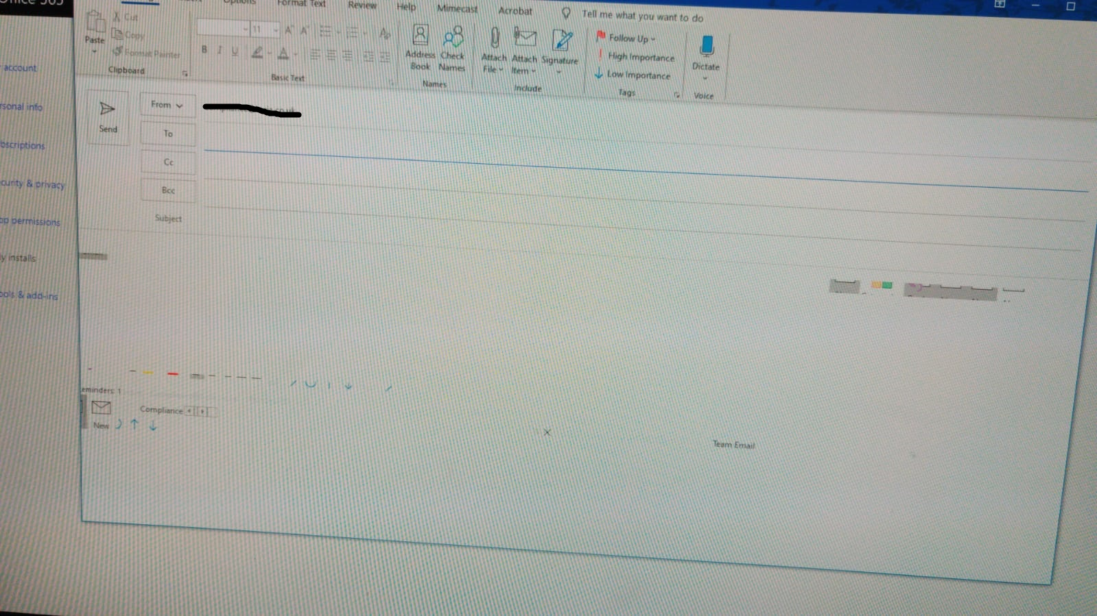 Outlook Questions
