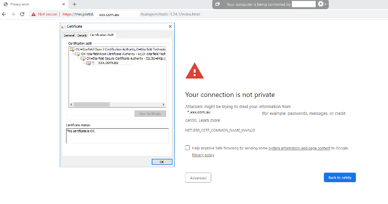 https site invalid certificate