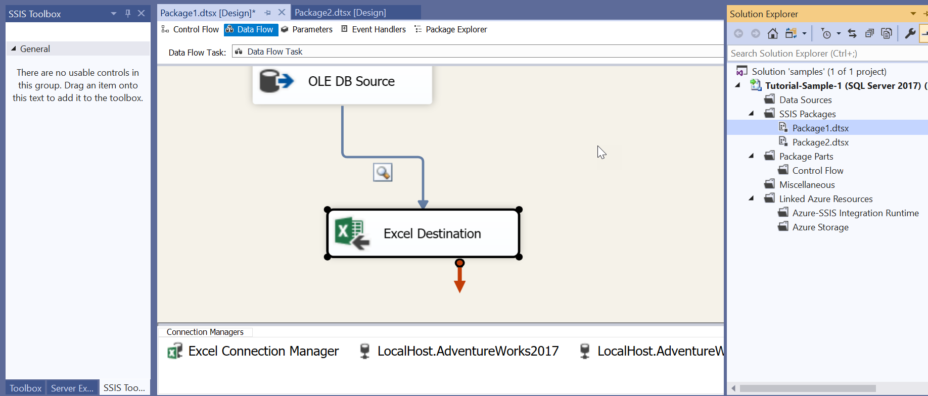 SSIS ToolBox is empty