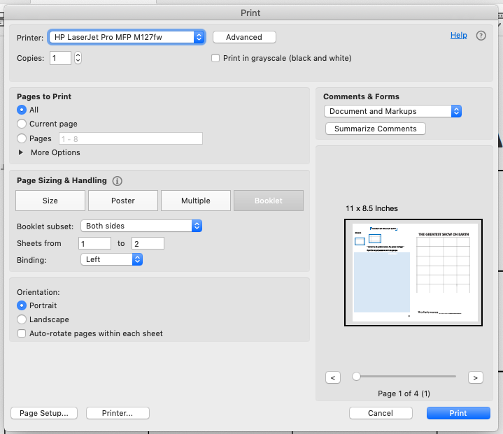 Adobe Print (Mac)