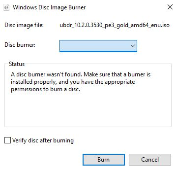 burning rom failure