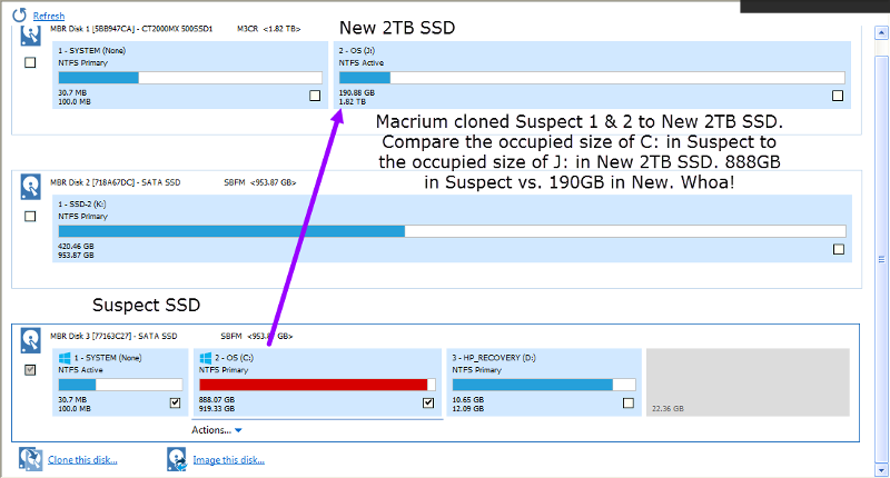 Busted! Occupied size doesn't match across cloned partitions
