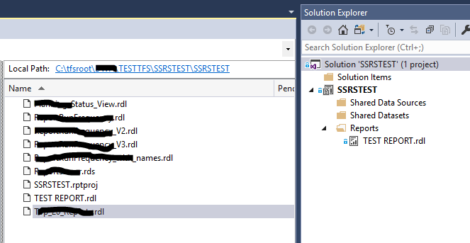 tfs solution explorer