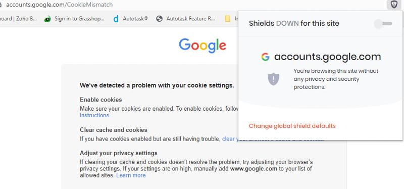 Brave browser cookies