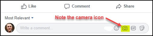FB Comment Box with Camera Icon