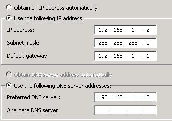 SBS2011 IP Configuration