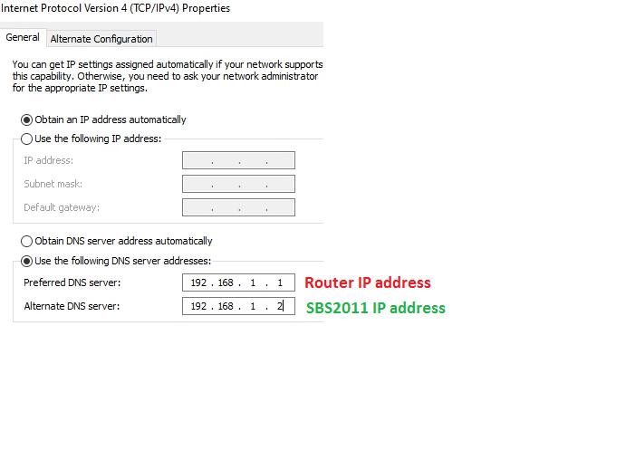 DNS Settings in IPv4