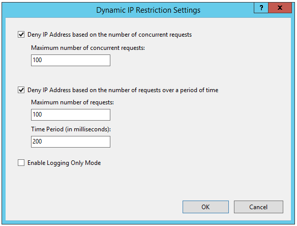 Dynamic IP restrictions