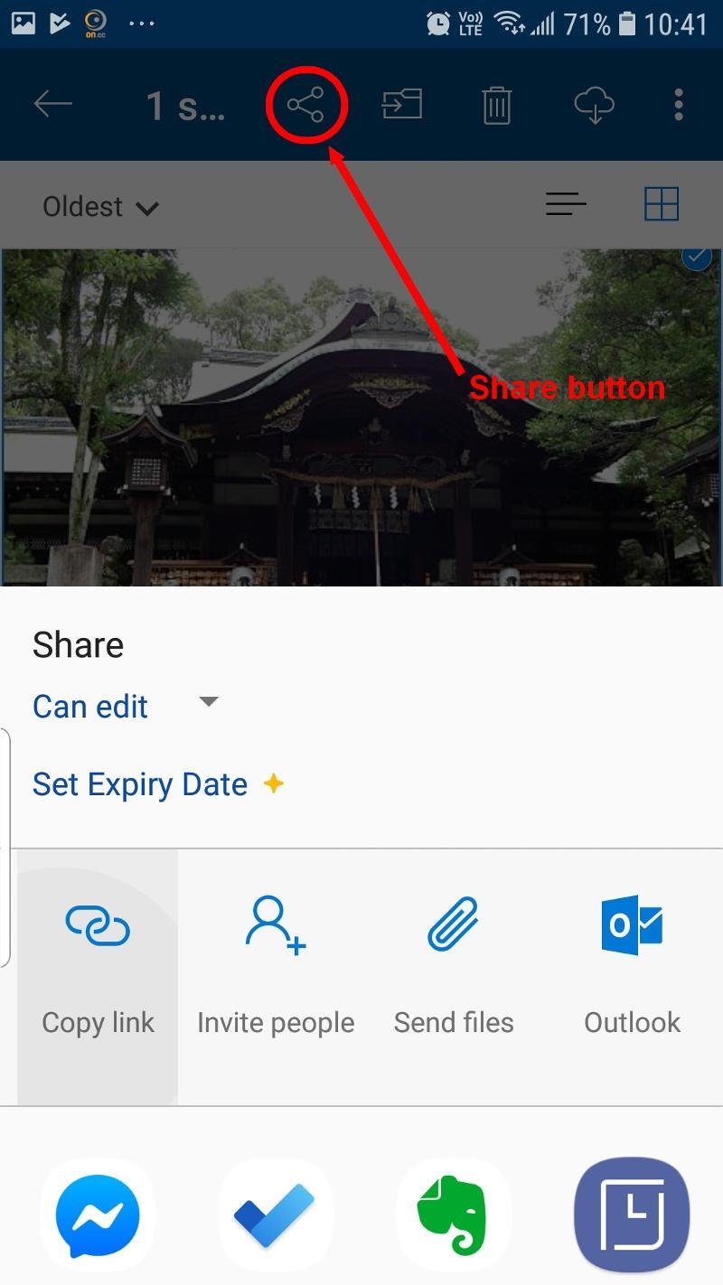 Click Send files button and...