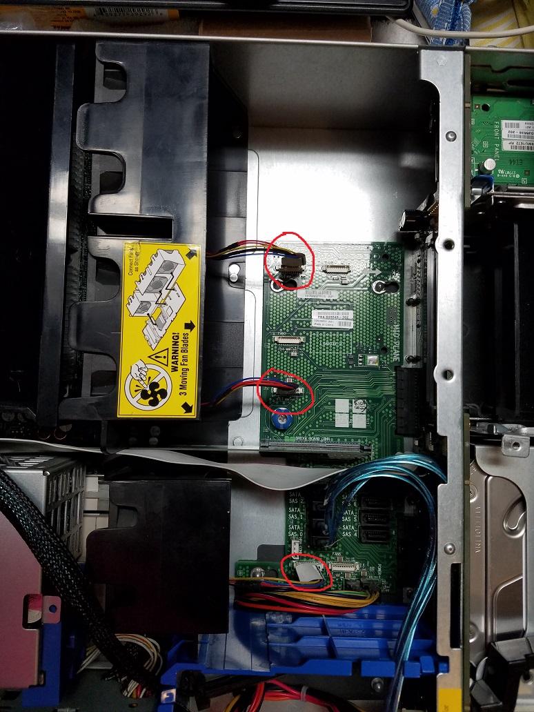 Intel SR2500ALBRP Server Chassis mid-plane