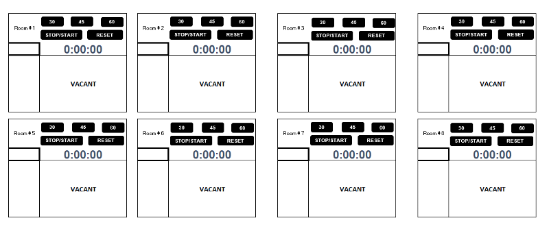 simple timer to be placed into sheet with start stop reset buttons