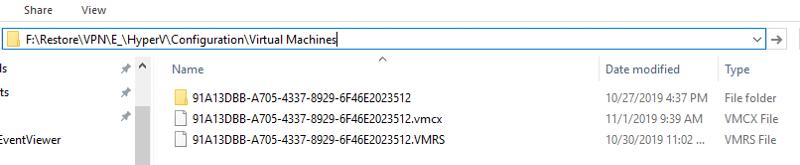 VM Configuration files in External USB HD