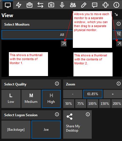 ScreenConnect dual monitors