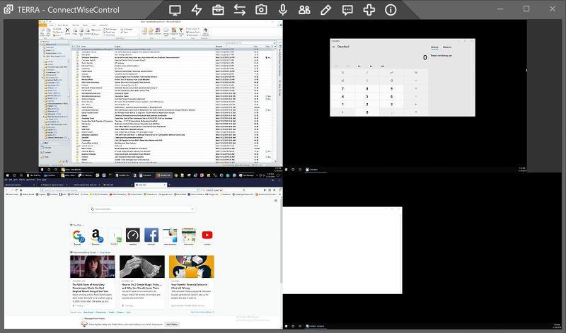 4 Screens in one Window