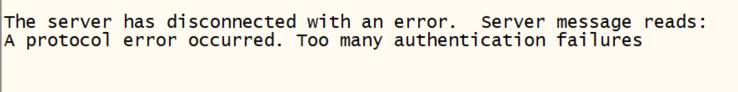 Secure CRT Error 2