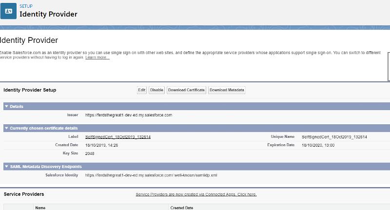 Salesforce Identity Provider