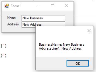 Form closing message
